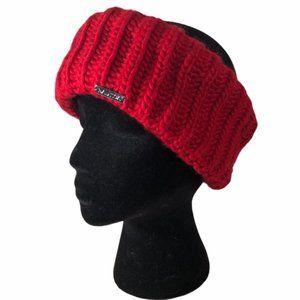 NWT Nautica Red Sweater Winter Headband Ear Warmer